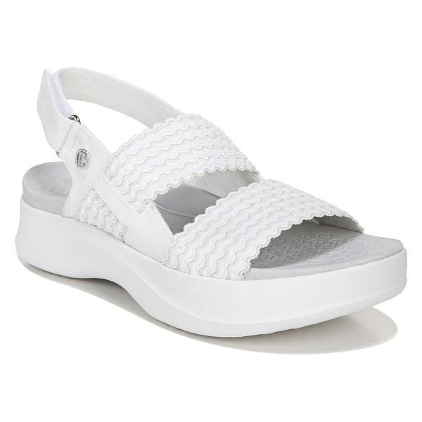 ビジーズ レディース サンダル シューズ BZees Plush Sandal (Women) White Fabric