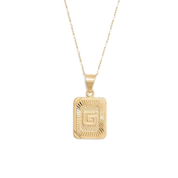ブラチャ レディース ネックレス・チョーカー・ペンダントトップ アクセサリー Bracha Initial Pendant Necklace Gold-G