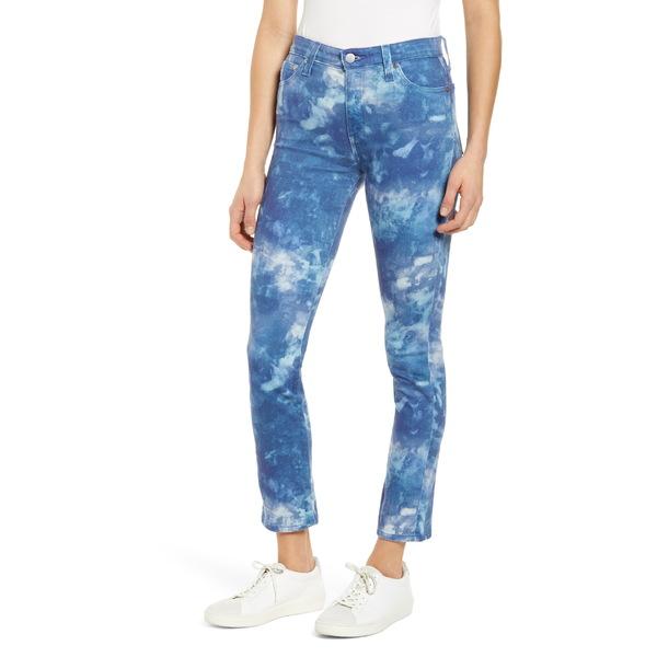 エージー レディース カジュアルパンツ ボトムス AG Mari High Waist Slim Straight Leg Jeans Abstract Tiedye Night Rain