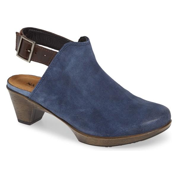 ナオト レディース ブーツ&レインブーツ シューズ Naot Upgrade Bootie (Women) Blue/ Walnut Suede/ Leather