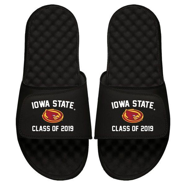 アイスライド メンズ サンダル シューズ Iowa State Cyclones ISlide Class of 2019 Slide Sandals Black