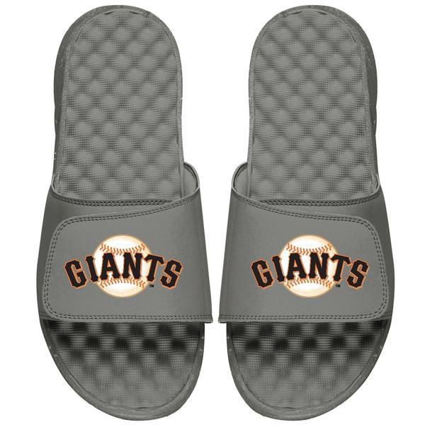 アイスライド メンズ サンダル シューズ San Francisco Giants ISlide Primary Logo Slide Sandals Gray