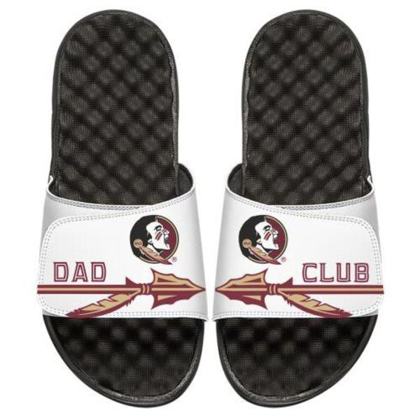 アイスライド メンズ サンダル シューズ Florida State Seminoles ISlide FSU Dad Club Slide Sandals White