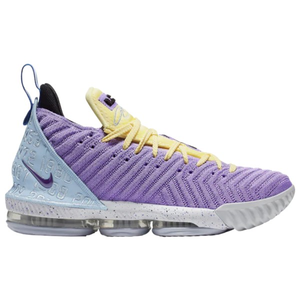 ナイキ メンズ バスケットボール スポーツ LeBron 16 Lebron James | Atomic Violet/Bicycle Yellow/Half Blue