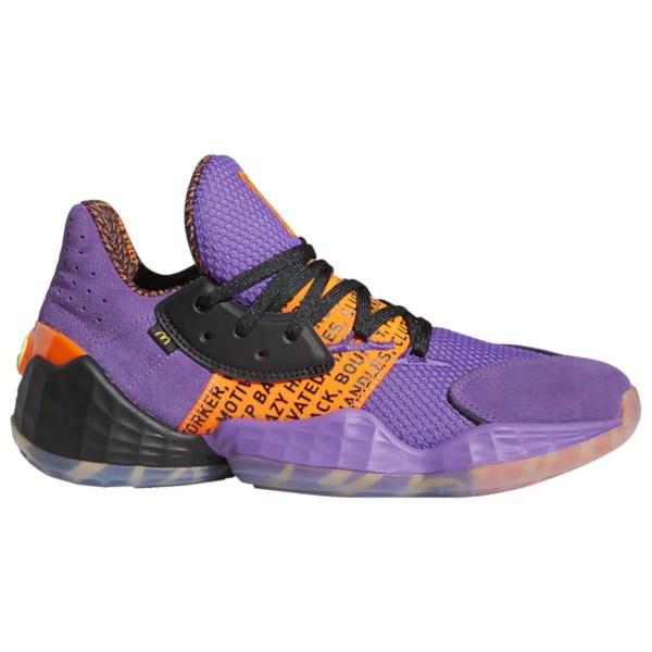 アディダス メンズ バスケットボール スポーツ Harden Vol. 4 James Harden | Active Purple/Black/Solar Orange