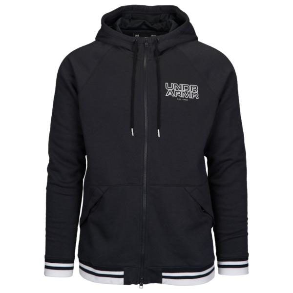 アンダーアーマー メンズ バスケットボール スポーツ Baseline Fleece F/Z Hoodie Black/White