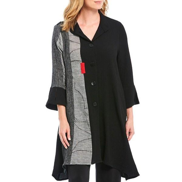 アイシーコレクション レディース ジャケット&ブルゾン アウター Multi Media Trim Detail Shirt Jacket Black