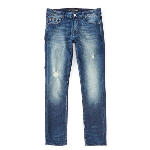 ゲス メンズ デニムパンツ ボトムス Free-Form Skinny Jeans Open Blue