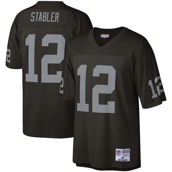 ミッチェル&ネス メンズ シャツ トップス Ken Stabler Las Vegas Raiders Mitchell & Ness Legacy Replica Jersey Black