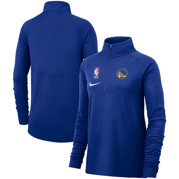 ナイキ レディース ジャケット&ブルゾン アウター Golden State Warriors Nike Women's Element Performance Raglan Half-Zip Pullover Jacket Royal