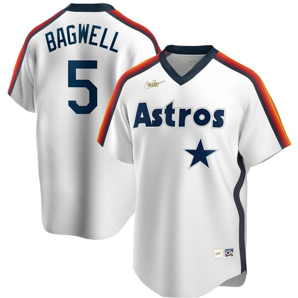 ナイキ メンズ シャツ トップス Jeff Bagwell Houston Astros Nike Home Cooperstown Collection Logo Player Jersey White