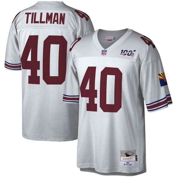 ミッチェル&ネス メンズ シャツ トップス Pat Tillman Arizona Cardinals Mitchell & Ness NFL 100 Retired Player Legacy Jersey Platinum