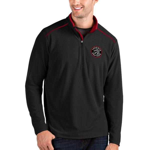 アンティグア メンズ ジャケット&ブルゾン アウター Toronto Raptors Antigua Big & Tall Glacier Quarter-Zip Pullover Jacket Black/Red