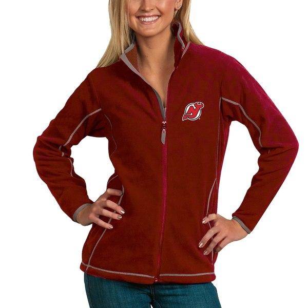 アンティグア レディース ジャケット&ブルゾン アウター New Jersey Devils Antigua Women's Ice Full Zip Jacket Red