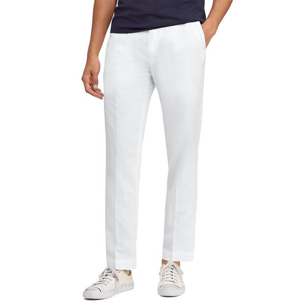 ラルフローレン メンズ カジュアルパンツ ボトムス Classic-Fit Logo Pants White