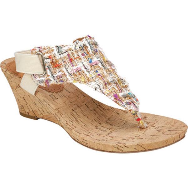 ホワイトマウンテン レディース サンダル シューズ All Good Wedge Sandal Natural Boucle Fabric