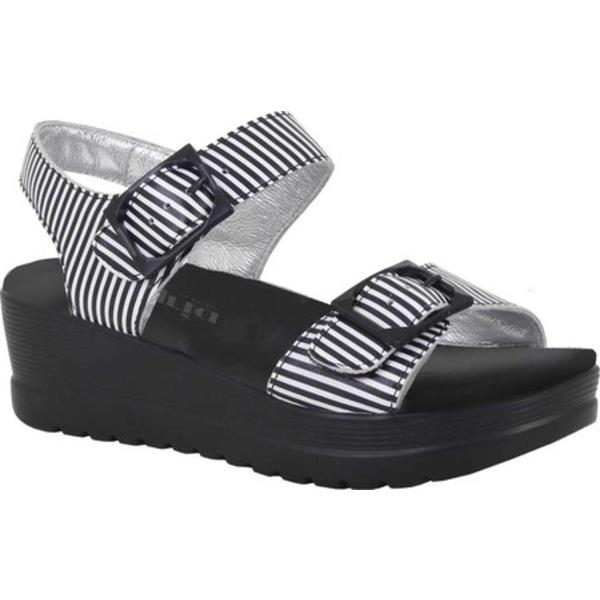 アレグリア レディース サンダル シューズ Morgyn Platform Sandal Stripes Leather