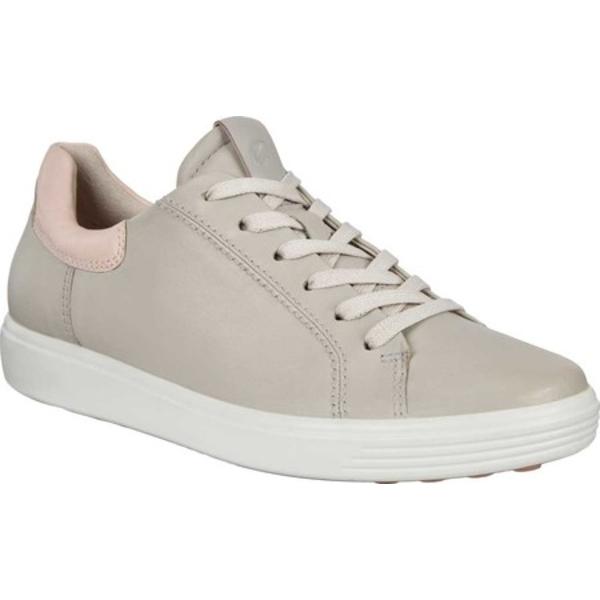エコー レディース スニーカー シューズ Soft 7 Street Sneaker Gravel/Rose Dust Cow Leather