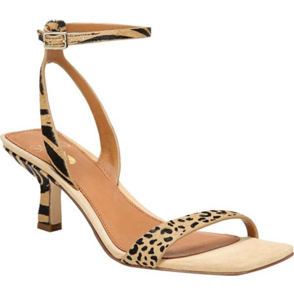 サルトバイフランコサルト レディース サンダル シューズ Bona 2 Ankle Strap Sandal New Nude Safari Zebra/Dotted Calf Hair