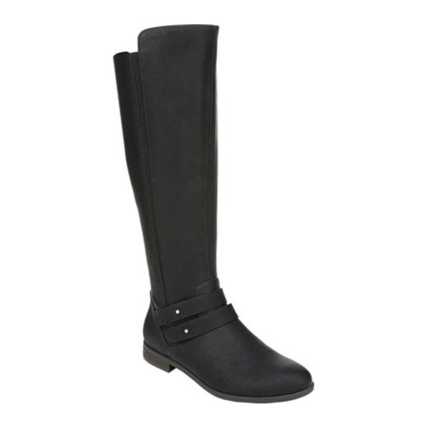 ドクター・ショール レディース ブーツ&レインブーツ シューズ Reach For It Wide Calf Boot Black Smooth Polyurethane