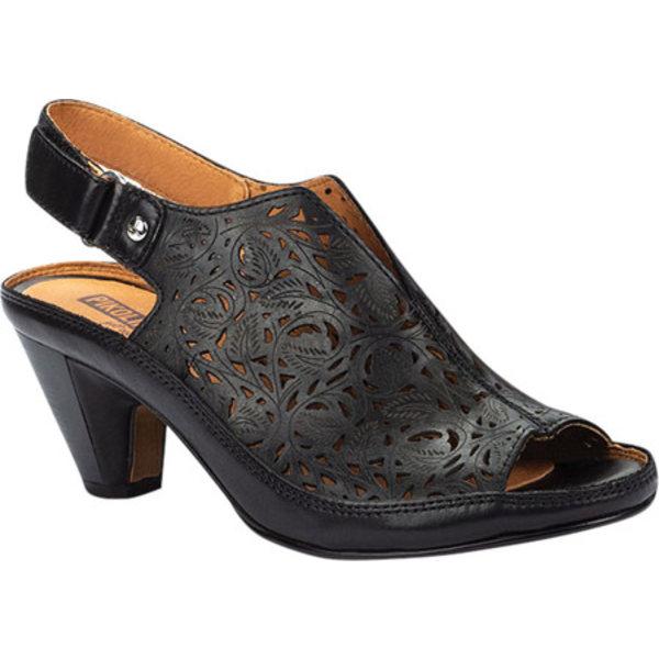 ピコリーノス レディース サンダル シューズ Java Perforated Slingback Sandal W5A-1805 Black Calfskin