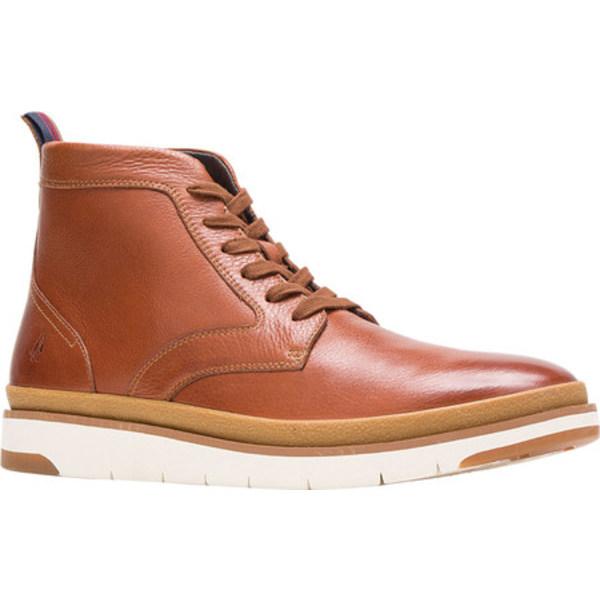 ハッシュパピー メンズ ブーツ&レインブーツ シューズ Caleb PT Ankle Boot Cognac Full Grain Leather