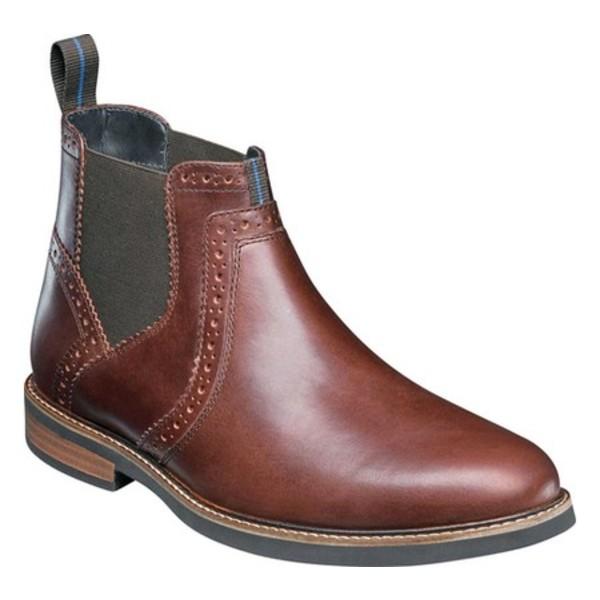 ノンブッシュ メンズ スニーカー シューズ Otis Plain Toe Chelsea Boot Rust Leather