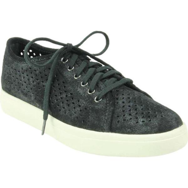 ベネリ レディース スニーカー シューズ Oneida Perforated Sneaker Black/Silver Rory Suede