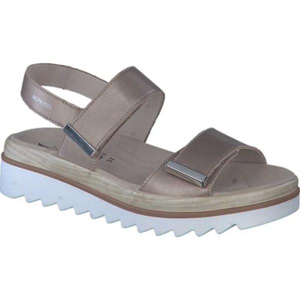 メフィスト レディース サンダル シューズ Dominica Platform Sandal Pewter Perlkid Leather