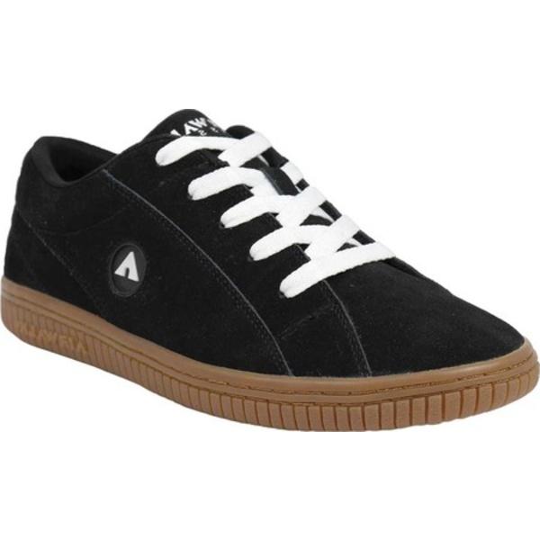 エアウォーク メンズ スニーカー シューズ The One Skate Shoe Gum Black/White Suede