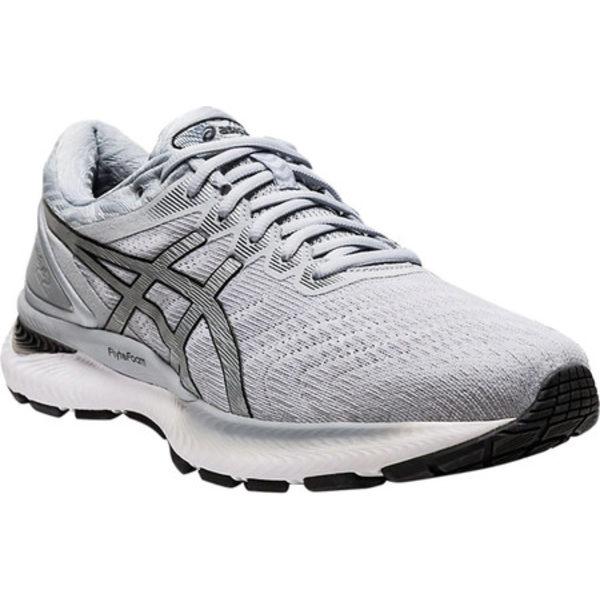アシックス メンズ スニーカー シューズ GEL-Nimbus 22 Running Sneaker White/Pure Silver