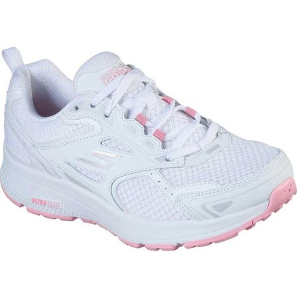 スケッチャーズ レディース スニーカー シューズ GOrun Consistent Running Shoe White/Pink