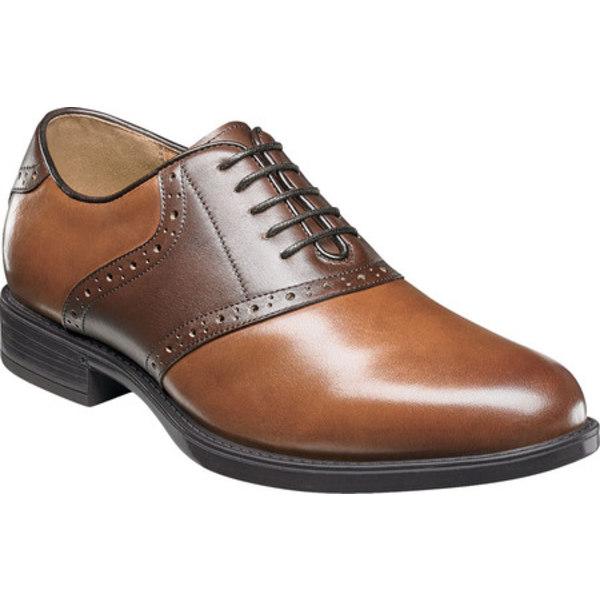 フローシャイム メンズ ドレスシューズ シューズ Midtown Saddle Oxford Cognac/Brown Leather