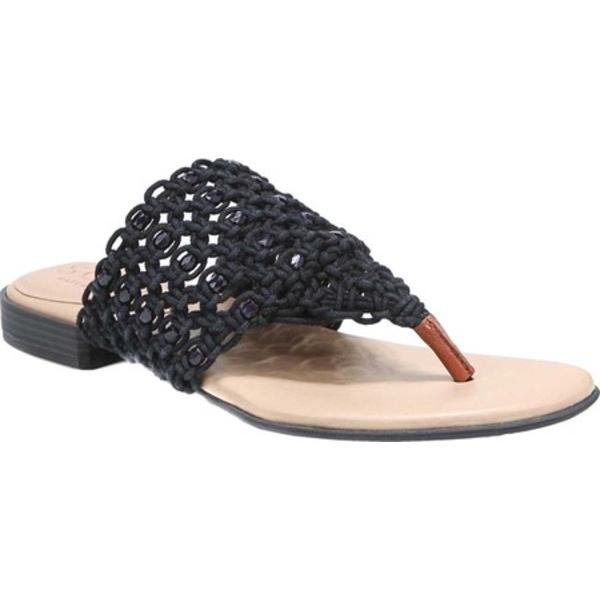 ソウルニュトライザー レディース サンダル シューズ Rascally Thong Sandal Black Fabric/Beads