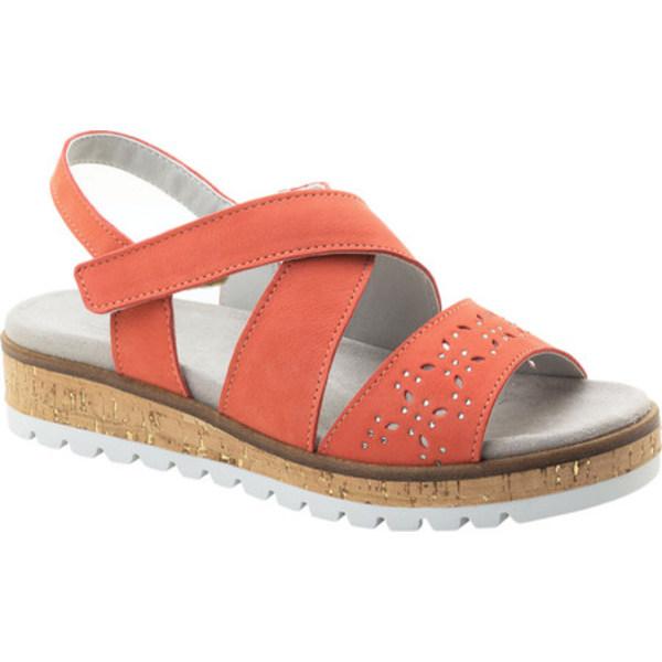 ドロメダリス レディース サンダル シューズ Reese Perforated Strappy Sandal Coral Leather