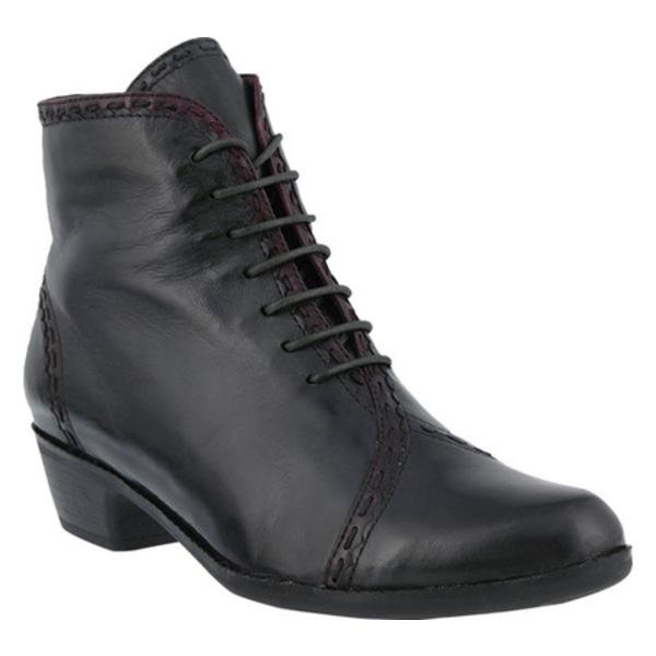 スプリングステップ レディース ブーツ&レインブーツ シューズ Jaru Bootie Gray Leather