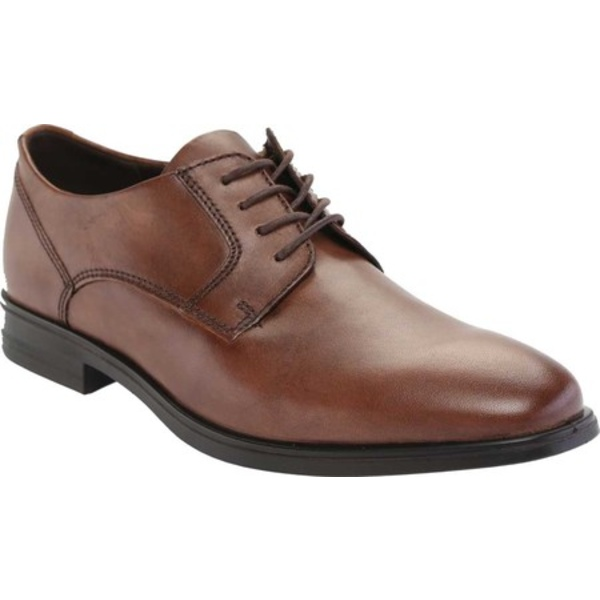 エコー メンズ ドレスシューズ シューズ Queenstown Plain Toe Tie Oxford Amber Full Grain Leather