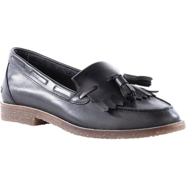 セイシェルズ レディース スリッポン・ローファー シューズ Cloak Tassel Loafer Black Leather
