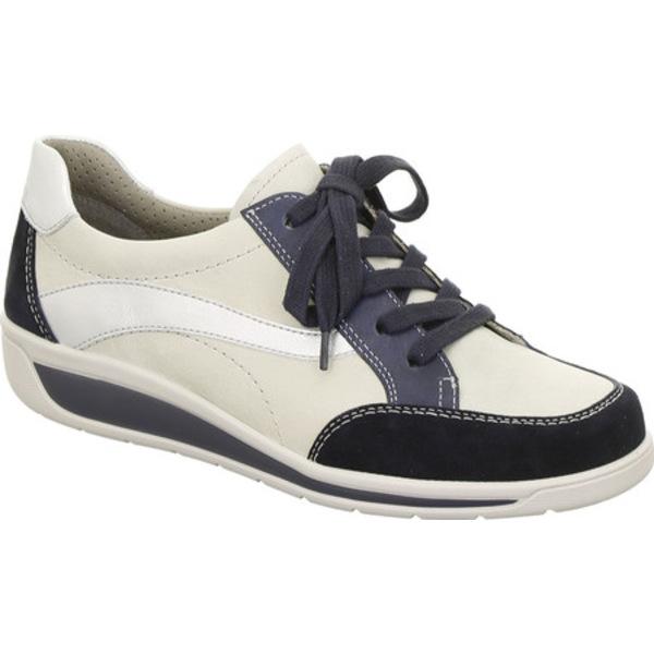 アラ レディース スニーカー シューズ Mia 36350 Sneaker Navy/White/Silver Combo