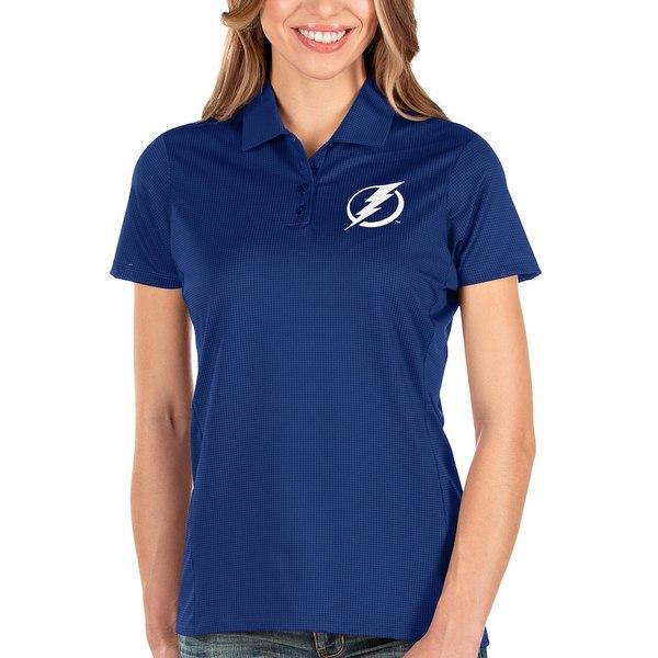 アンティグア レディース ポロシャツ トップス Tampa Bay Lightning Antigua Women's Balance Polo Blue