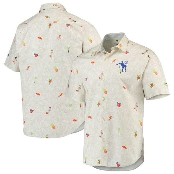トッミーバハマ メンズ シャツ トップス Indianapolis Colts Tommy Bahama Beach-cation Team Throwback Button-Up Woven Shirt White