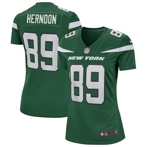 ナイキ レディース シャツ トップス Chris Herndon New York Jets Nike Women's Game Jersey Gotham Green