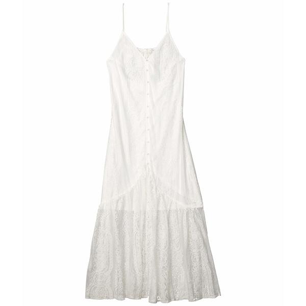 アメリカンローズ レディース ワンピース トップス Alena Spaghetti Strap Button-Up Maxi Dress White