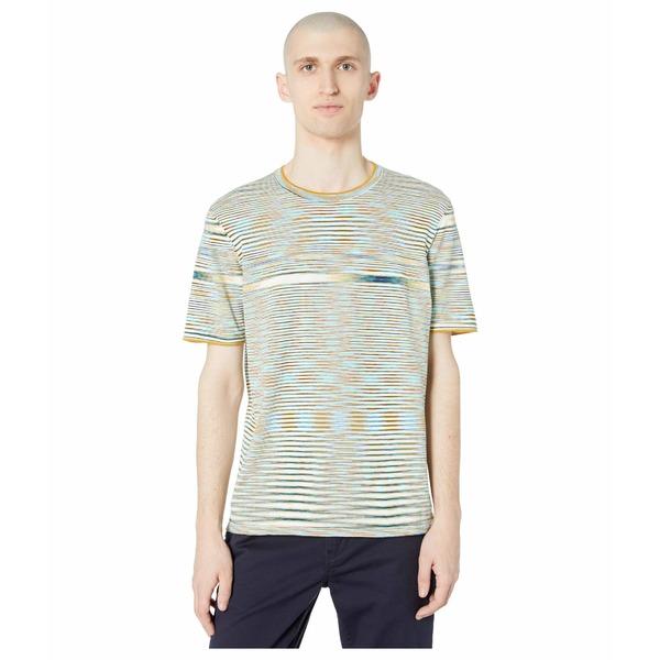 ミッソーニ メンズ シャツ トップス Boston Fiammato Knit T-Shirt White/Blue
