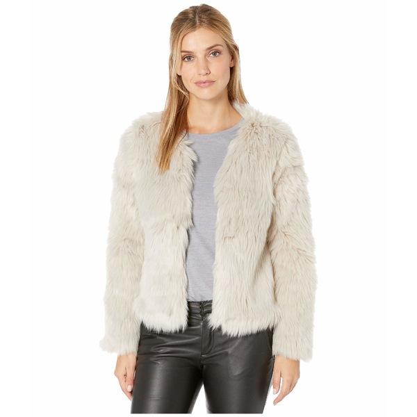 デイランバイトゥルーグリット レディース コート アウター Melange Heather Faux Fur Jacket with Heather Knit Lining Heather Natural