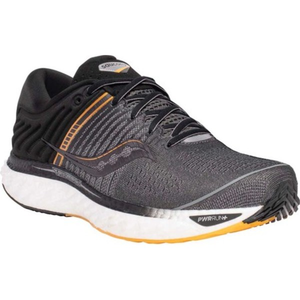 サッカニー メンズ スニーカー シューズ Triumph 17 Running Sneaker Grey/Black Engineered Mesh
