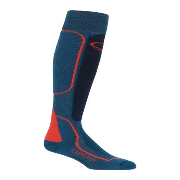 アイスブレーカー メンズ 靴下 アンダーウェア Ski+ Mid Over the Calf Prussian Blue/Midnight Navy/Chili Red