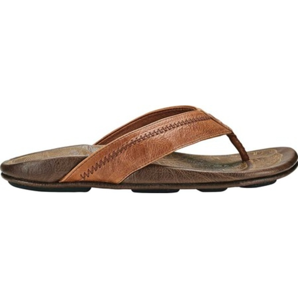 オルカイ メンズ スニーカー シューズ Hiapo Flip Flop Rum/Dark Wood Full Grain Leather