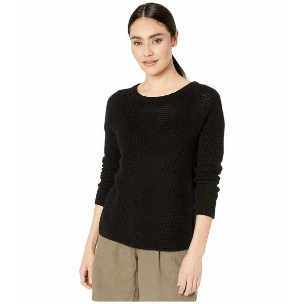 マイケルスターズ レディース ニット&セーター アウター Paige Long Sleeve Scoop Neck Pullover Cotton Sweater Black