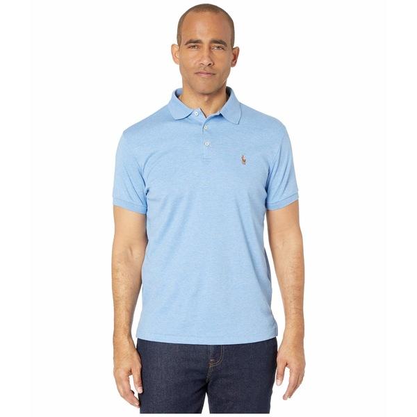 ラルフローレン メンズ シャツ トップス Short Sleeve Solid Classic Fit Soft Touch - Custom Slim Blue
